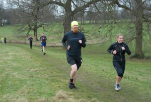 Parkrun #22 - 16th February 2013 [Me running with Lucy Driver and Matt Bird]
